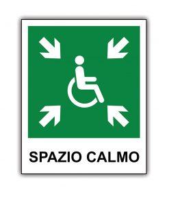"Cartello ""Spazio Calmo"""
