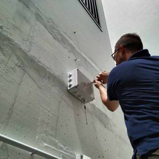 Kit installazione da esterno a parete
