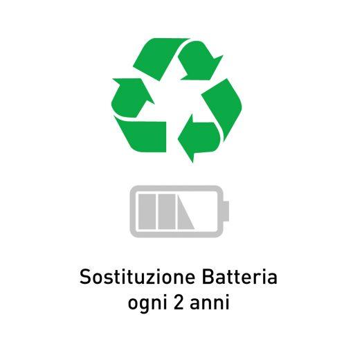 Controllo periodico + sostituzione batteria (ogni 2 anni)
